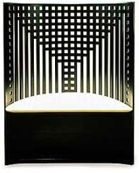 Un icono del diseño geométrico willow tea room de Charles R. Mackintosh.